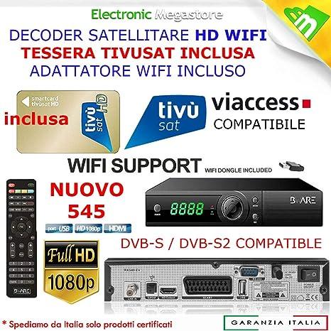 decodificador Satélite HD Compatible con Tarjeta Tivusat ES ...