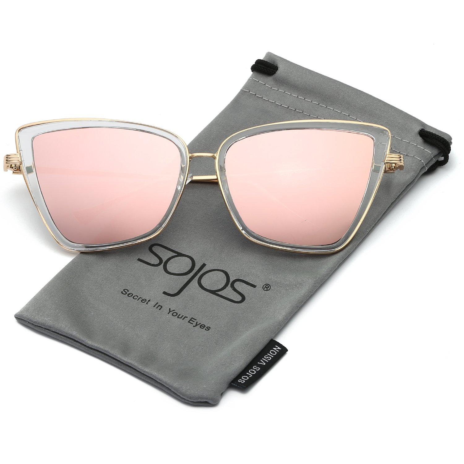 a495b59e09 Mirrored lens. Non-polarized. Lens width  53 millimeters. UV400 PROTECTION  FOR YOUR EYES – SojoS Vision anti-glare lenses can block 100% of both UVA  and UVB ...