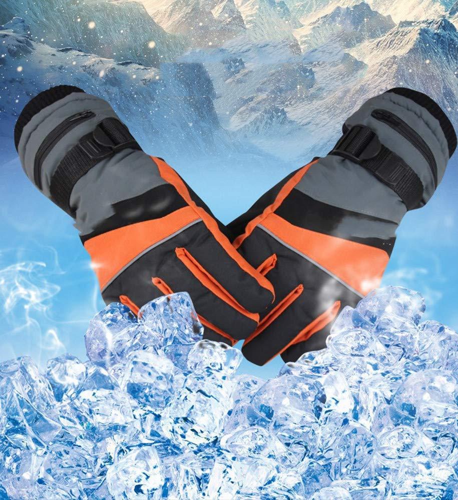 WNFDH Handschuh Winter USB Handwärmer Elektrische Thermohandschuhe Motorradhandschuhewasserdichte beheizte Handschuhe Reiten Moto Ski Handschuhe Touchscreen