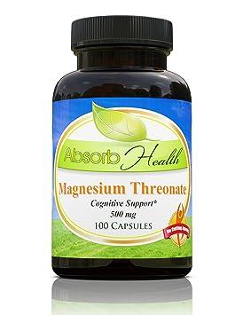 Treonato Magnesio | 500 mg | 100 Capsules | forma más absorbible | Memoria Nootropic: Amazon.es: Deportes y aire libre