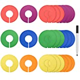 Amazon Price History for:Blulu Colored Blank Closet Size Dividers Round Clothing Rack Dividers 24 Pieces with 1 Marker Pen