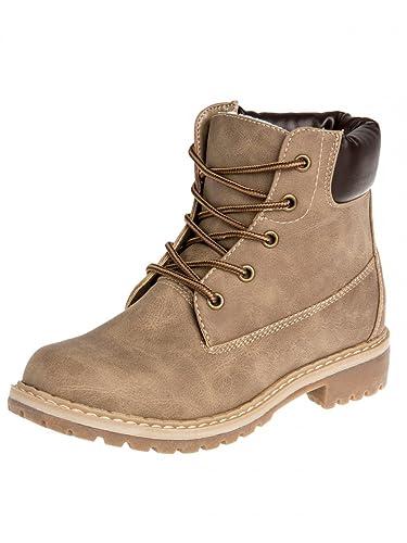 Gefütterte Damen Outdoor Boots SBO065, Farbe:Braun;Größe:EU37/UK4/US6.5
