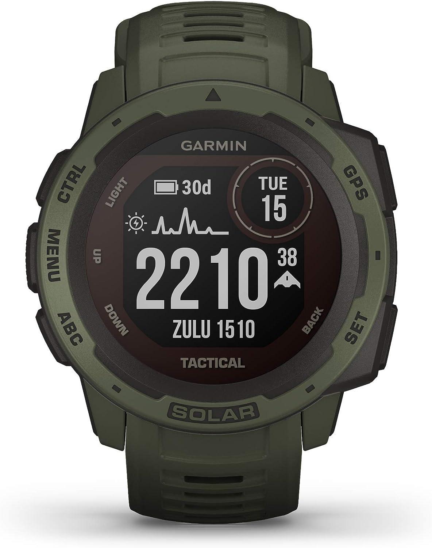 Garmin Instinct Tactical Solar, Reloj GPS resistente con carga solar - Verde Militar: Amazon.es: Deportes y aire libre