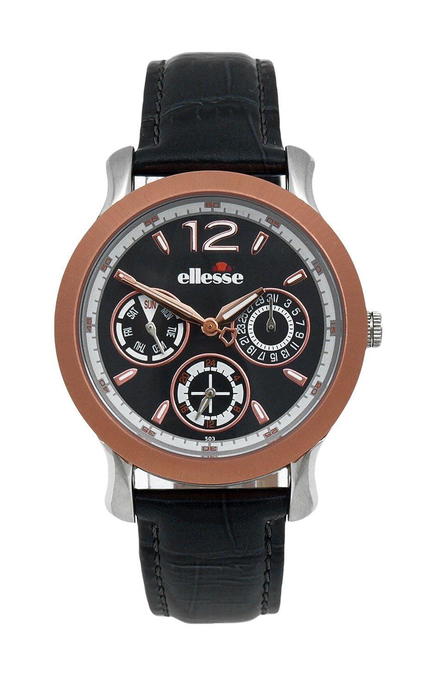 Elesse Unisex-Armbanduhr Analog Quarz Leder 556MF03-04