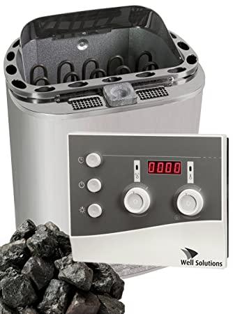 Well Solutions® Bio Kombi Sauna Dampfofen 8KW Scandia Klima ...