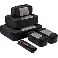 Gonex 6 Set Travel Packing Cubes, Luggage Packing Organizer Set for Bag & Suitcase With Laundry Bag Black