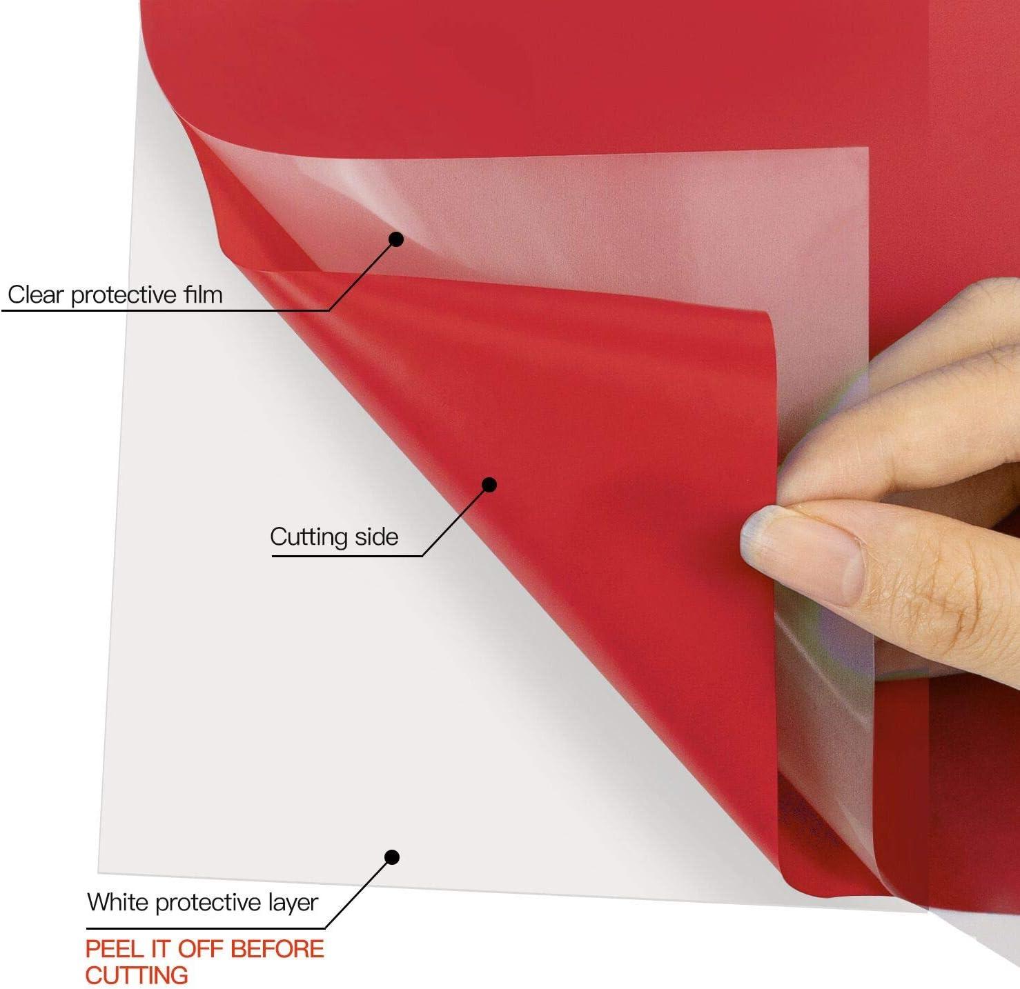 Vinilo de transferencia de calor – Rollo de vinilo para planchar Cricut & Silhouette Cameo, rollo de vinilo HTV resistente para hacer camisetas de bricolaje, fácil de cortar y maleza (rojo): Amazon.es: