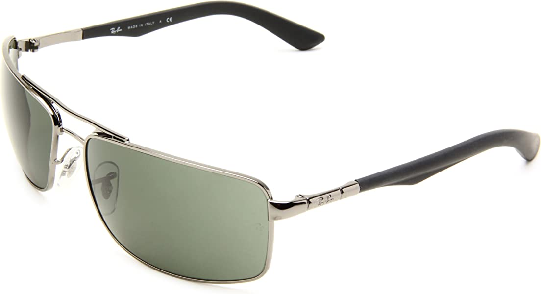 2255b0c57d3 Ray-Ban RB3465 - GUNMETAL Frame CRYSTAL GREEN Lenses 64mm Non-Polarized.  Back. Double-tap to zoom