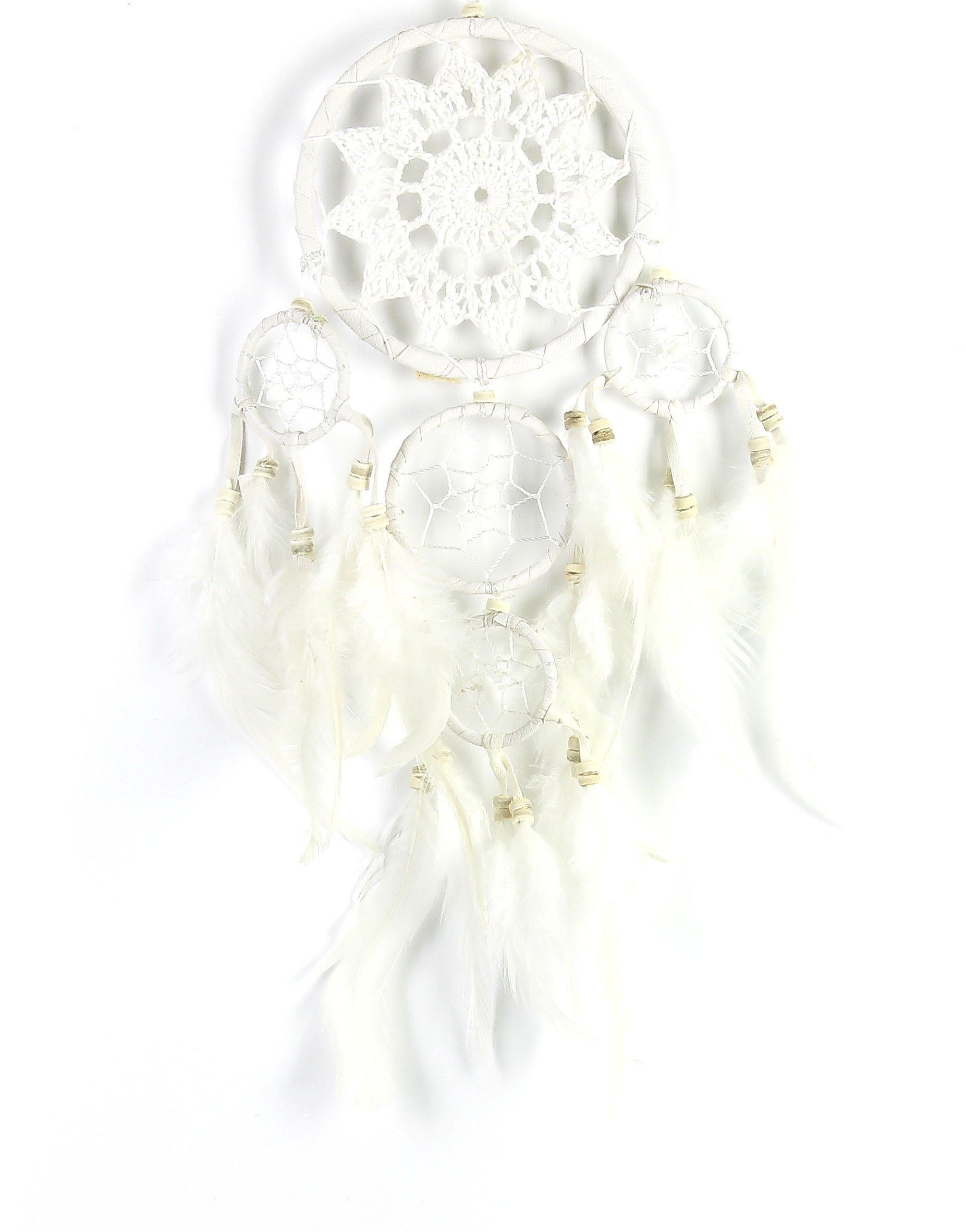 Boheme Dreamcatcher, Crochet Dreamcatcher, Wall Hanging, Home Decor, Spiritual, Meditation, Boho, Bohemian, Gypsy, Feathers