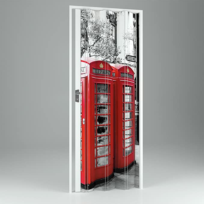 Forte Puerta Plegable de Interior de PVC London 102 cm Mod.Vera: Amazon.es: Hogar