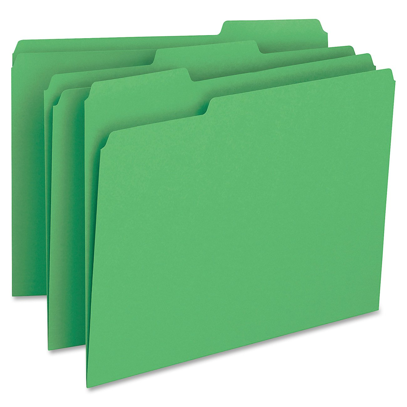 Amazon.com : Smead File Folder, 1/3-Cut Tab, Letter Size, Green ...