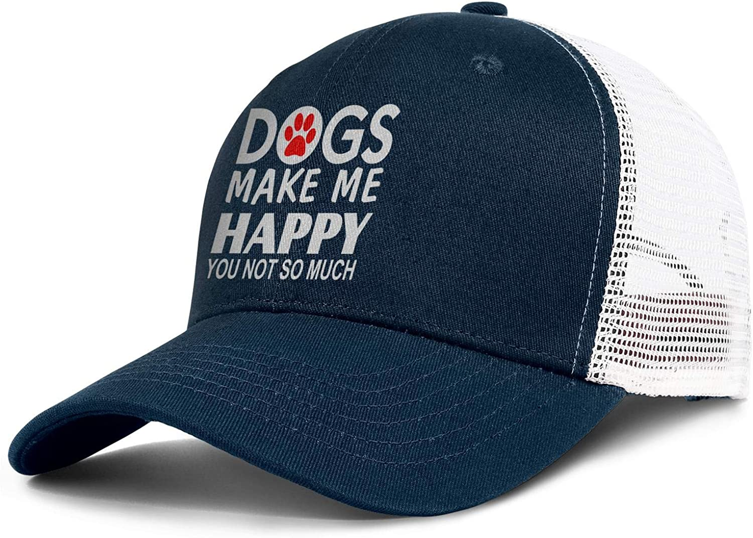 Trucks Make Me Happy Outdoor Snapback Sandwich Cap Adjustable Baseball Hat Trucker Cap