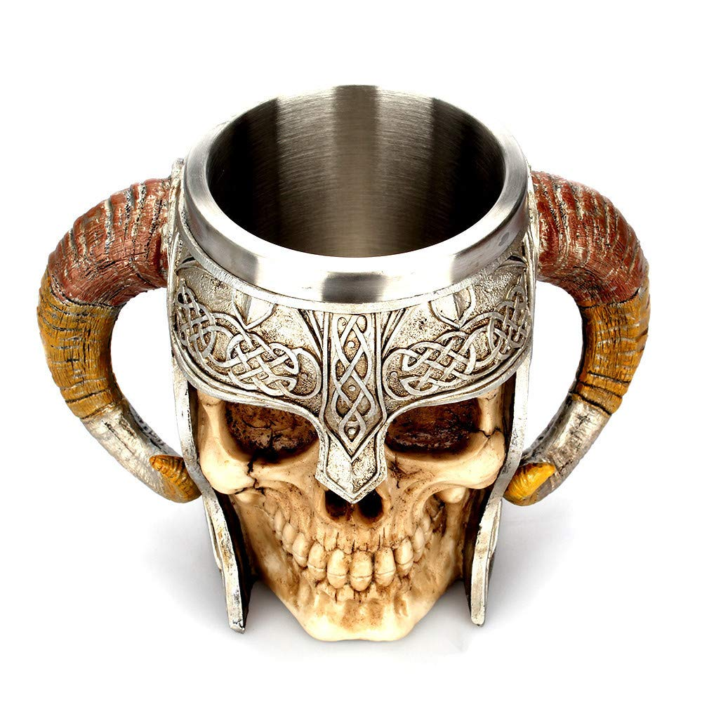 Gothic Wine Goblet Resin Skull Decorative Tankard Mug Drinking Cup Gifts #3