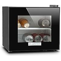 Klarstein Frosty Kühlschrank mit Glastür • Mini-Kühlschrank • Mini-Bar • 10 Liter • 33,4 x 30,3 x 31,5 cm • 1 x Regaleinschub • regelbare Temperatur • Glas-Fensterfront • LED • schwarz