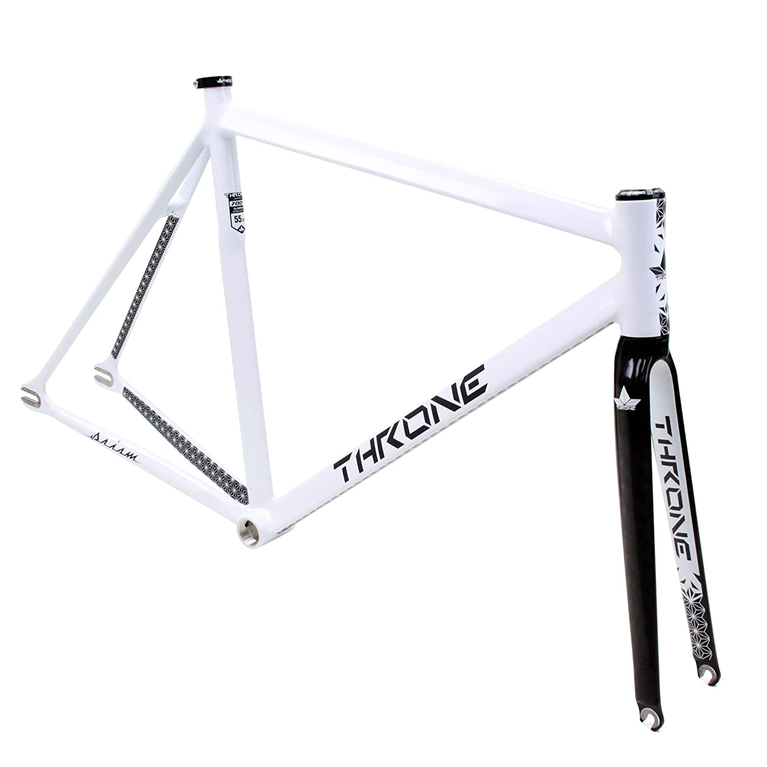 Amazon.com : Throne Prism Aluminum Track Frame- White/Black Includes ...
