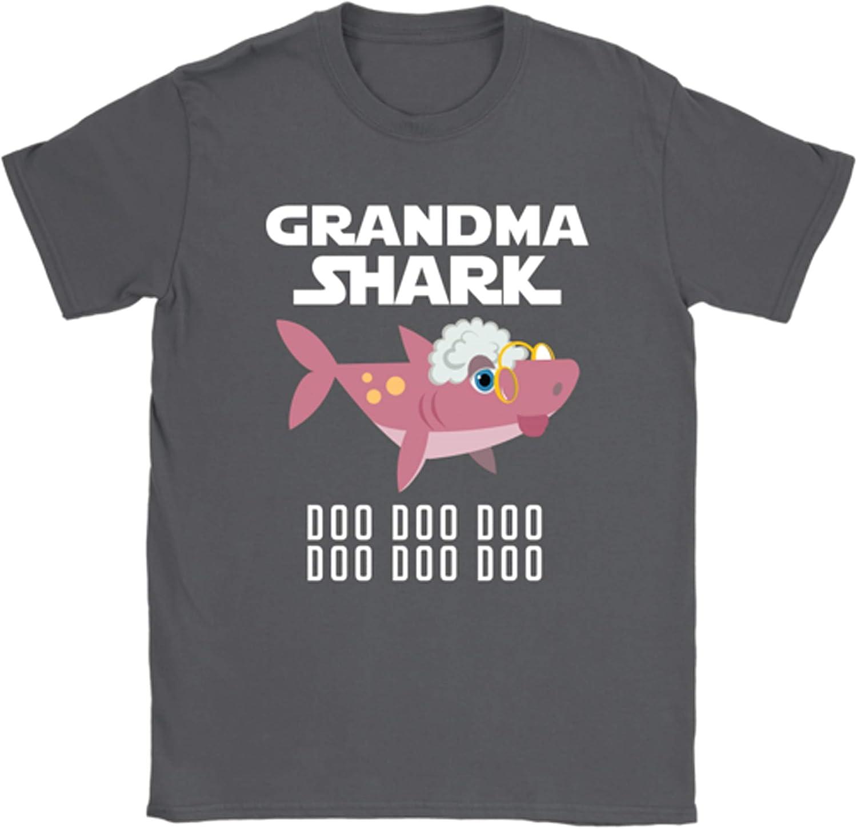 Teelaunch VnSupertramp Grandma Shark Doo Doo Doo Costume Women Shirt Plus Size XL-3XL Best Birthday Gift Shark Song Party D1