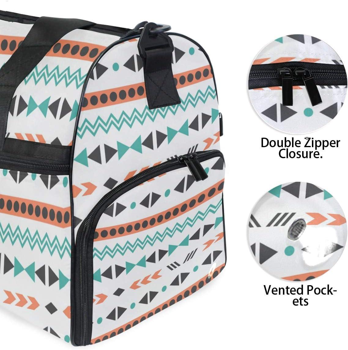 MALPLENA Boho Style Pattern Packable Duffle Bag For Men Women Tear Resistant Sports Duffle