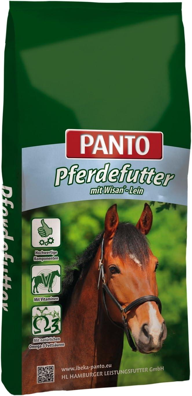 1er Pack PANTO Sport-M/üsli f/ür Pferde M/öhren 1 x 20 kg haferfrei mit Wisan-Lein