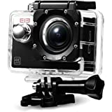 Elephone Action Camera WiFi 4K Sony 16MP 1080p/60fps Waterproof 30M Kit Accessori-Nero
