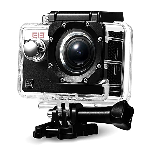 39 opinioni per Elephone Action Camera WiFi 4K Sony 16MP 1080p/60fps Waterproof 30M Kit