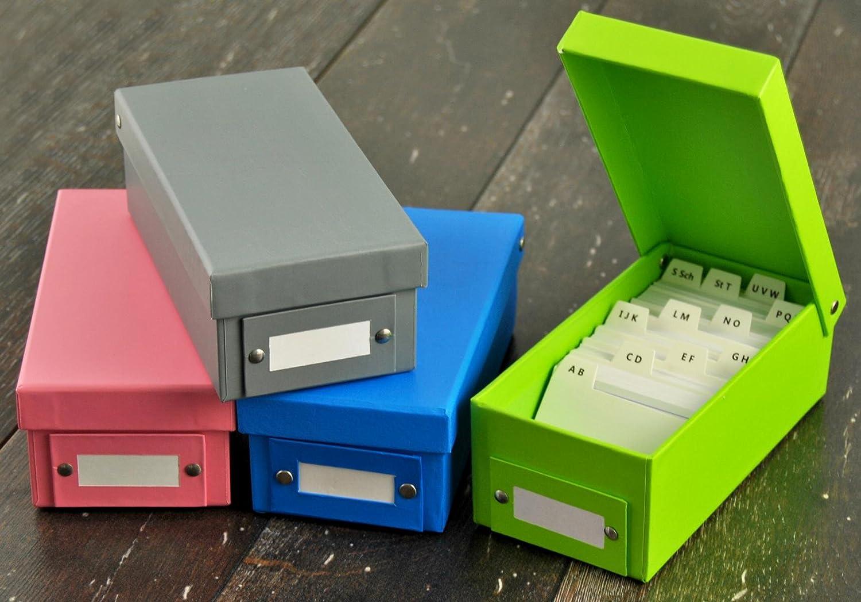 4/X SCATOLA DI APPRENDIMENTO schedario DIN A8//4/colori assortiti 1600/cartoncini