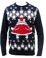 London Knitwear Gallery Christmas Rude Naughty Novelty Jumper Santa Flasher Retro