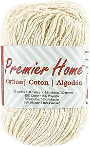 Premier Yarns 38-2 Home Cotton Yarn, Solid Cream