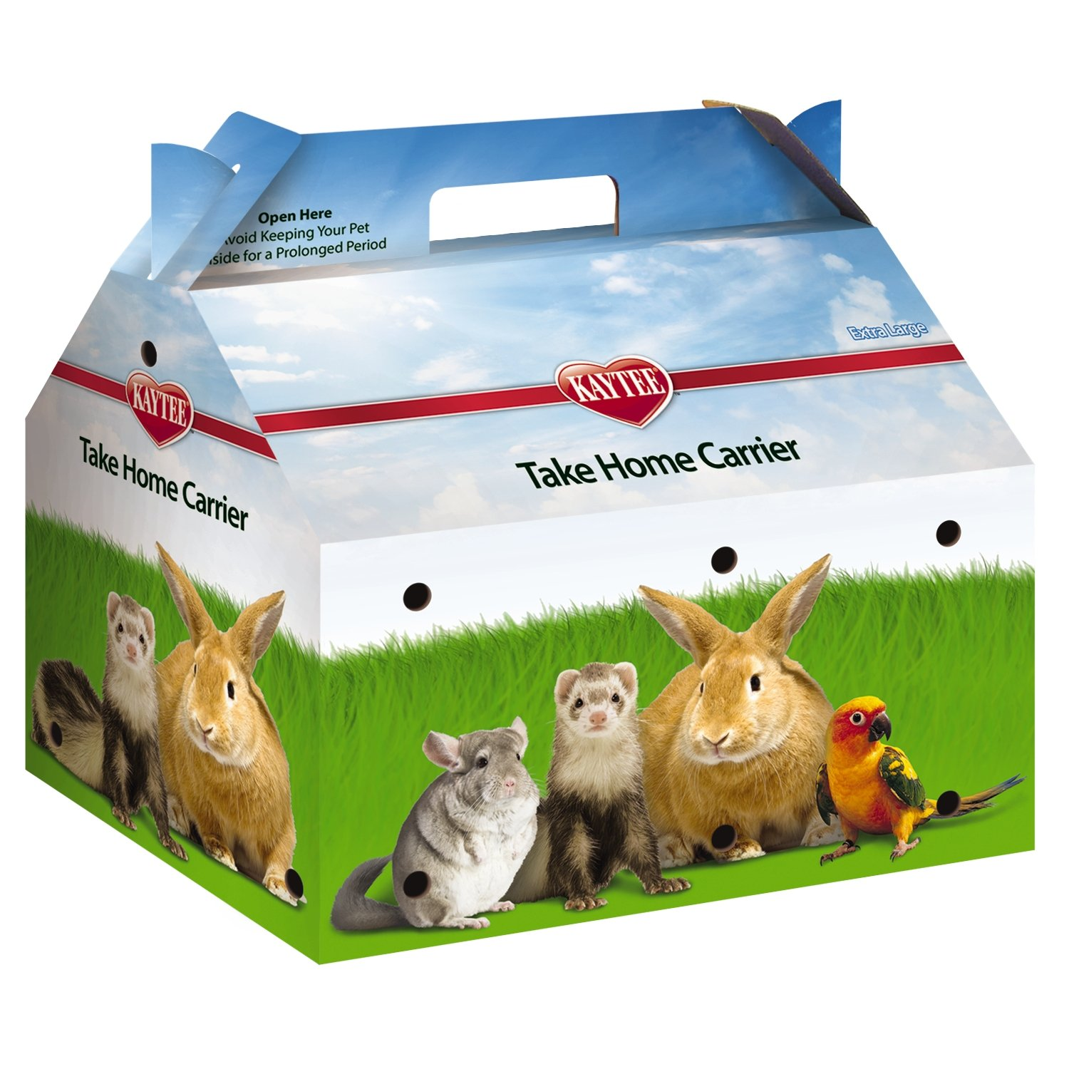 Kaytee Take-Home Pet Carrier/Box, X-Large, 50 per case
