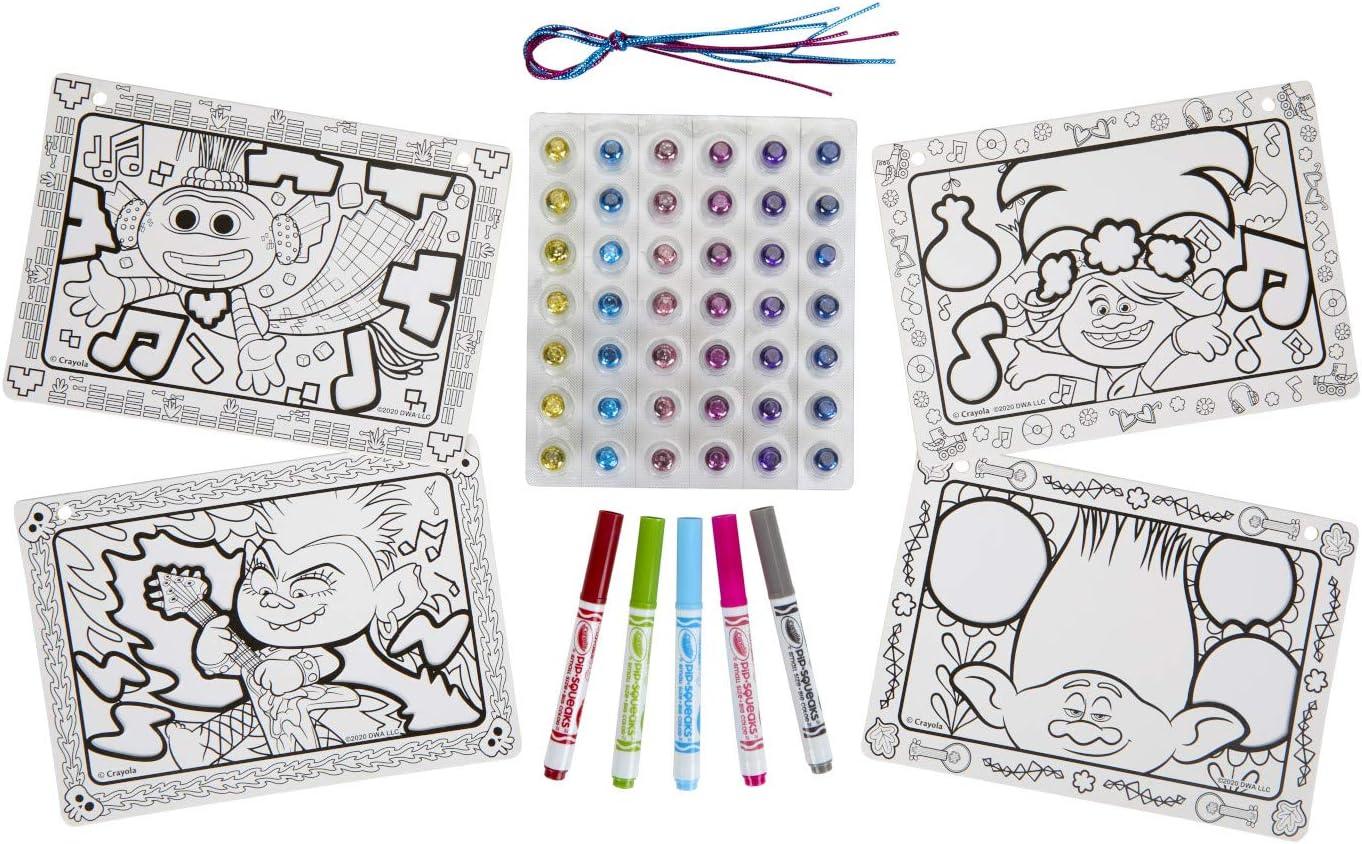 Gift for Kids 8 Ages 5 6 Glitter Art Activity Crayola Trolls World Tour Sparkle Signs 7 Trolls 2