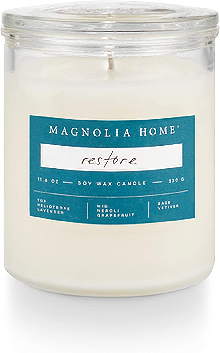 Magnolia Home Restore Lidded-Glass Candle Home Decor By Joanna Gaines