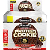 MuscleTech Soft Baked Whey Protein Cookie, Triple Chocolate, Gluten-Free, 3.25-ounce (Pack of 6 - 92g)