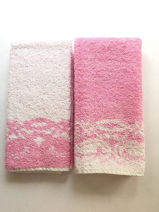 Guest toalla de mano/dedo servilletas en 3 colores. Azul, Verde, Rosa
