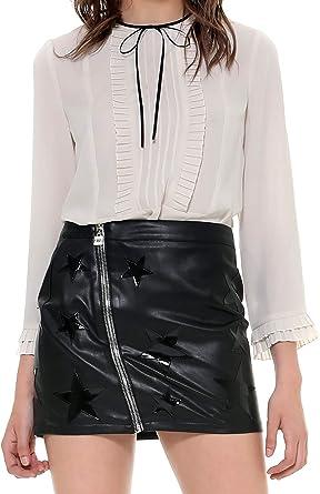 Silvian Heach Camisa Blusa ELMA Camisa Mujer Crema PGA19315BL Crema XS: Amazon.es: Ropa y accesorios