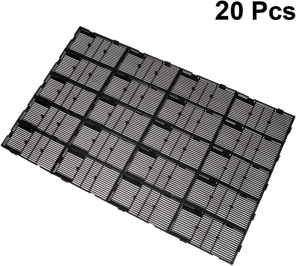 POPETPOP 20 Pcs Aquarium Divider Grid Isolate Board Divider Fish Tank Bottom Black Filter Tray Aquarium Crate