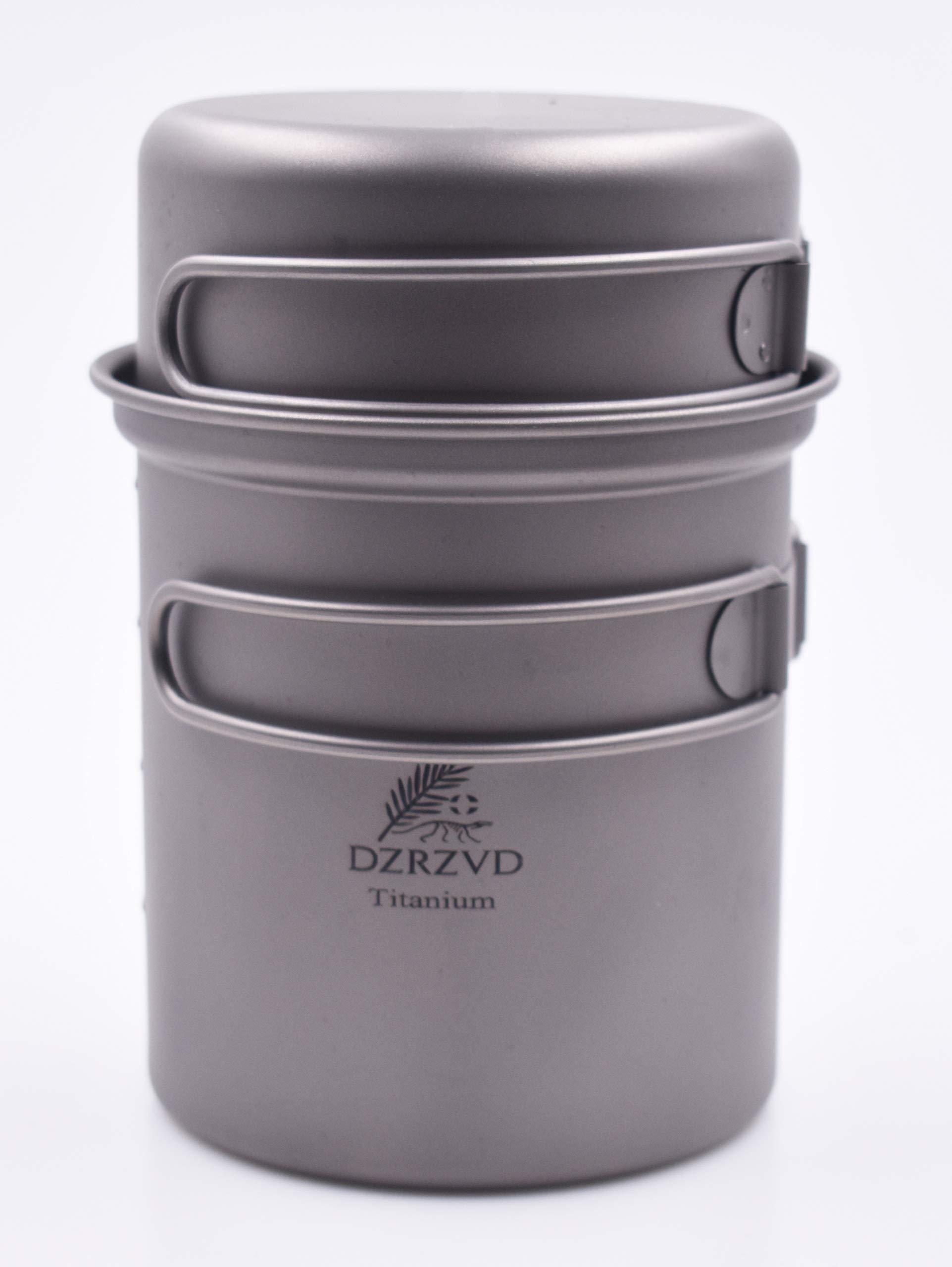 DZRZVD Titanium 600ml Pot with 300ml Pan