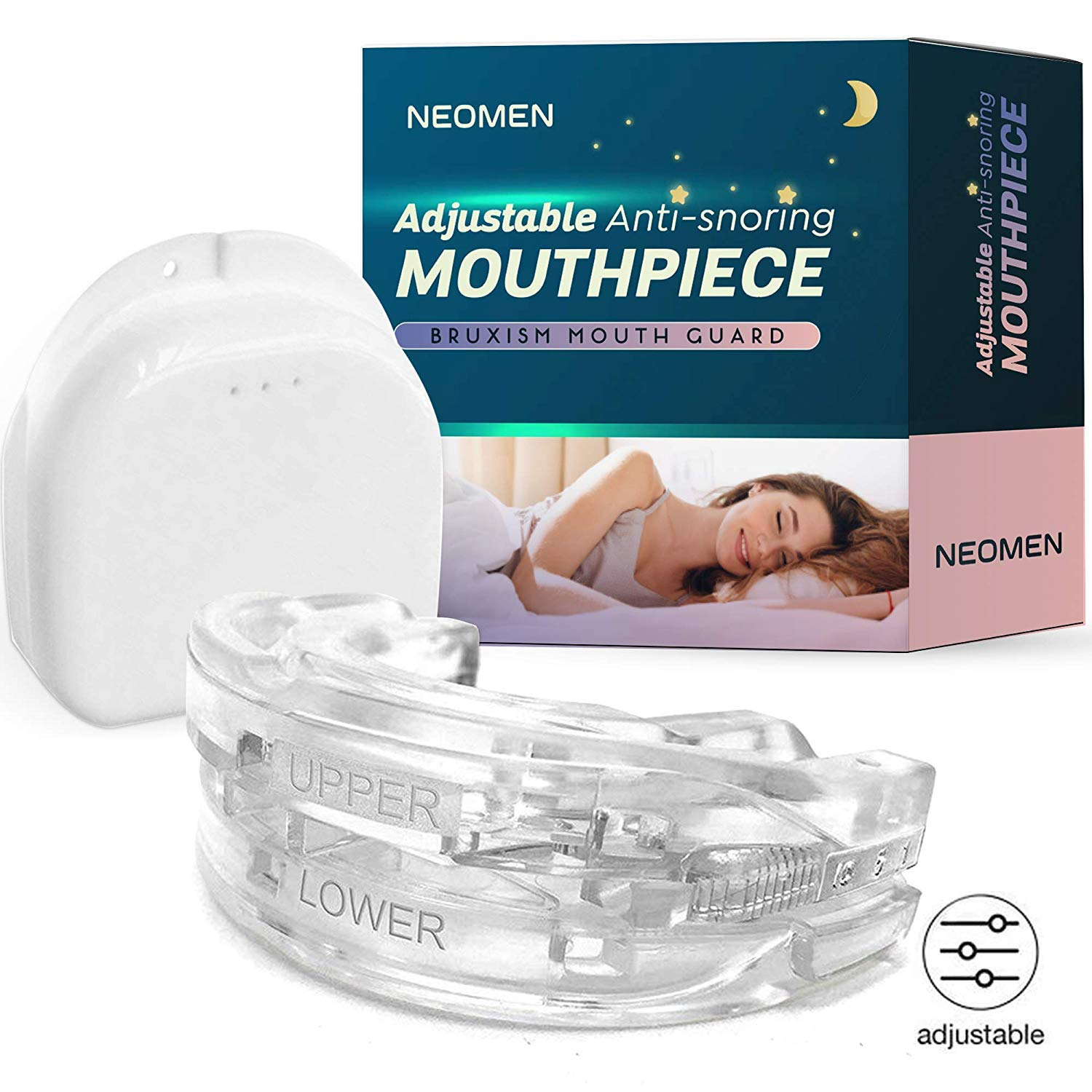 Neomen Adjustable Mouthpiece Night Sleep Mouth Guard for Quiet Night by NEOMEN