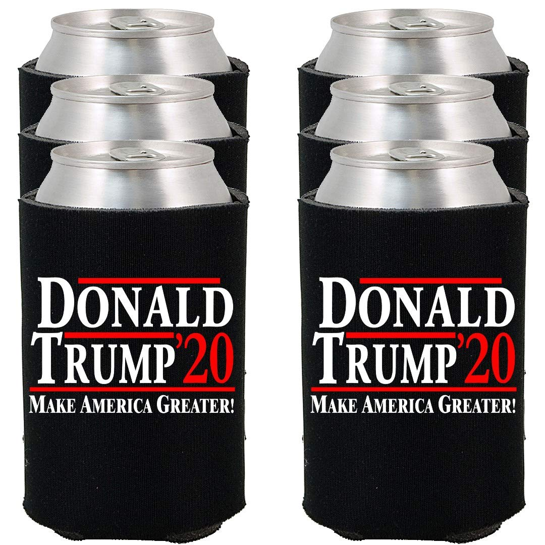 Shop4Ever Donald Trump 2020 ~ Make America Greater! ~ Can Coolie Political Drink Coolers Coolies (Black, 6)