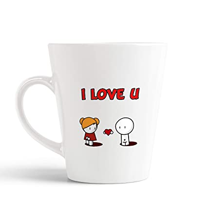Buy Ikraft Love Quotes Conical Coffee Mug I Love U Cute Love