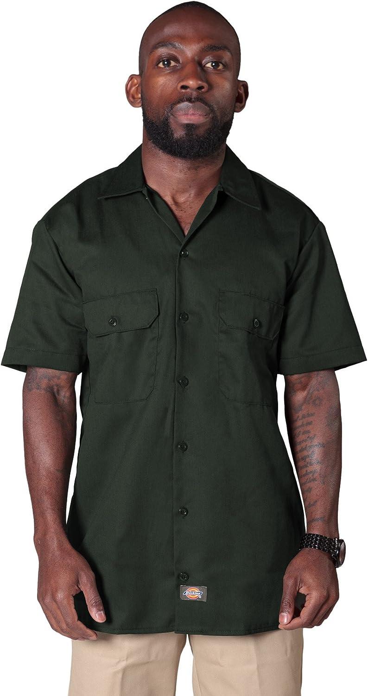 Dickies Camisa de trabajo con manga corta Verde Oliva ...
