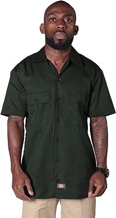 Dickies - Camisa de trabajo con manga corta - Verde Oliva hombre ropa de trabajo DICKIES1574OG: Amazon.es: Ropa y accesorios