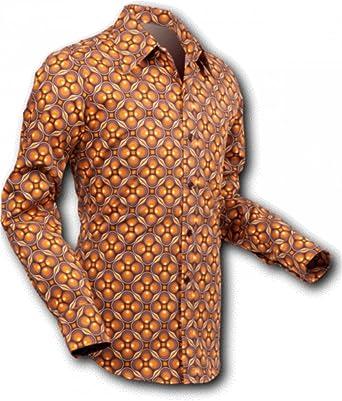 Pete Chenaski chena Esquí Camisa dotsgrid Brown de Brown, Retro Años 70: Amazon.es: Ropa y accesorios