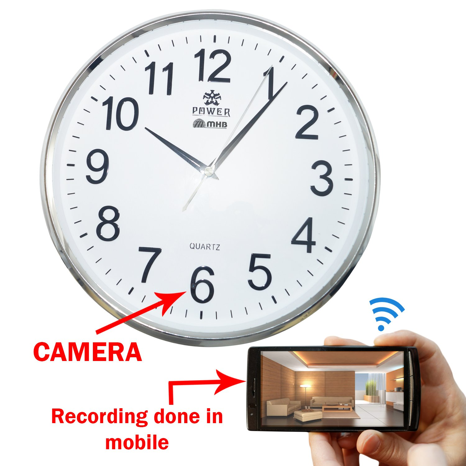 Buy m mhb wifi wall clock hidden spy camera full hd 19201080 buy m mhb wifi wall clock hidden spy camera full hd 19201080 quality online at low price in india m mhb camera reviews ratings amazon amipublicfo Images