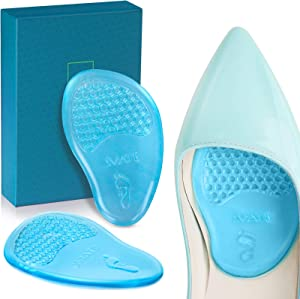 SMATIS Ball of Foot Cushions for Women, 4PCS Metatarsal Pads for Women and Men Gel Mortons Neuroma Pads for Foot Pain Relieve