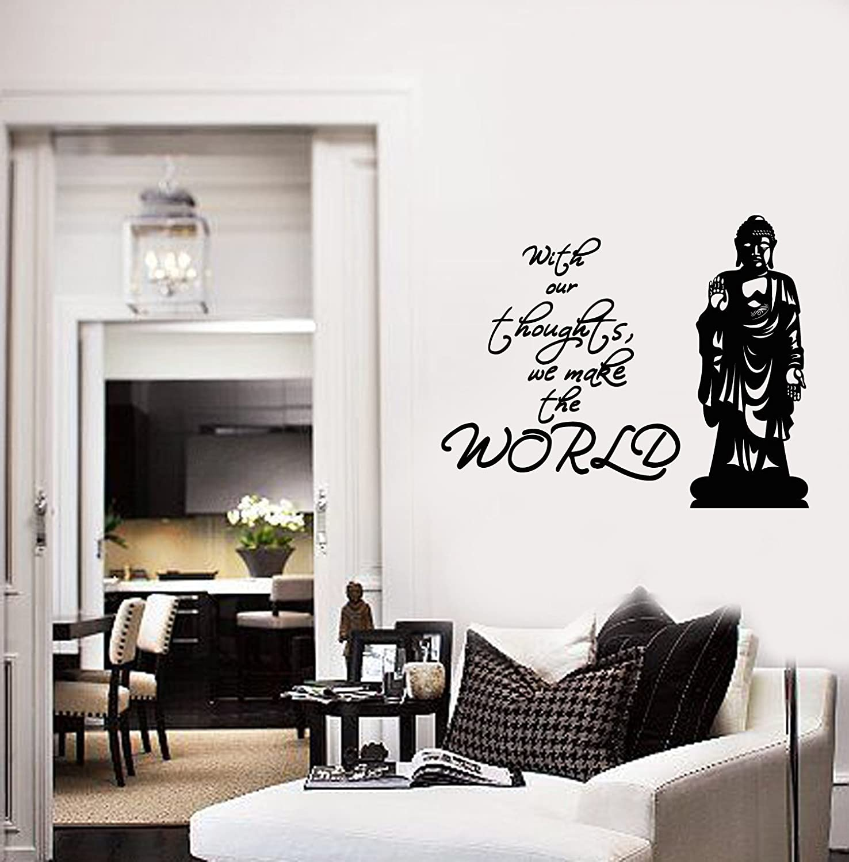 Amazon.com: Buddha Statue Vinyl Wall Decal Quote Zen ...