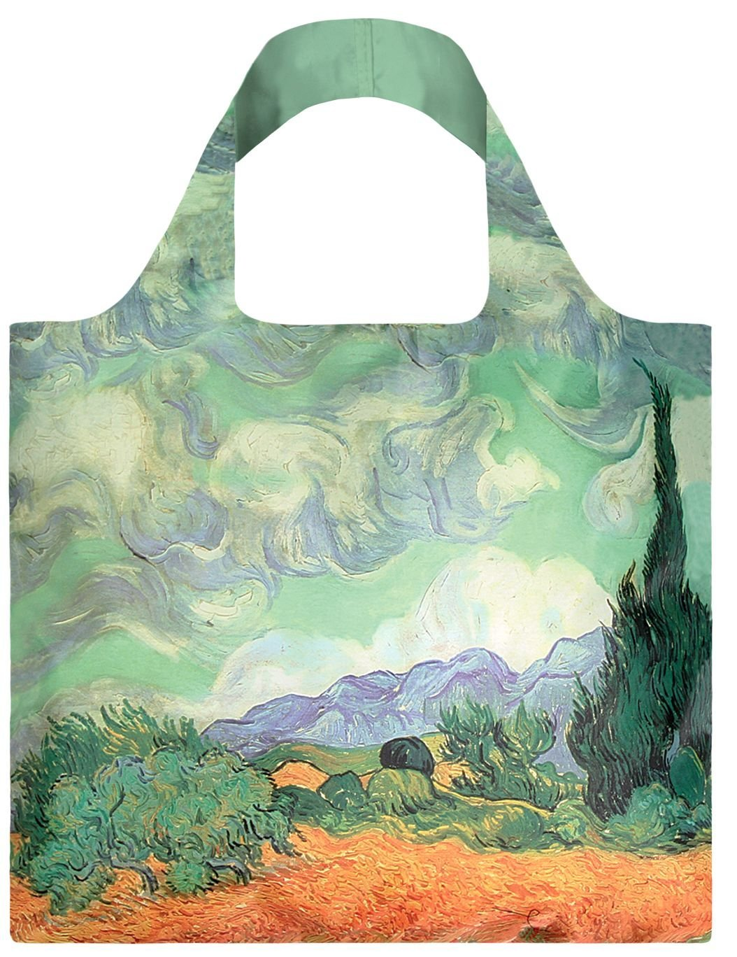 LOQI Museum Van Gogh the Wheat Field with Cypresses Reusable Shopping Bag VG.WH