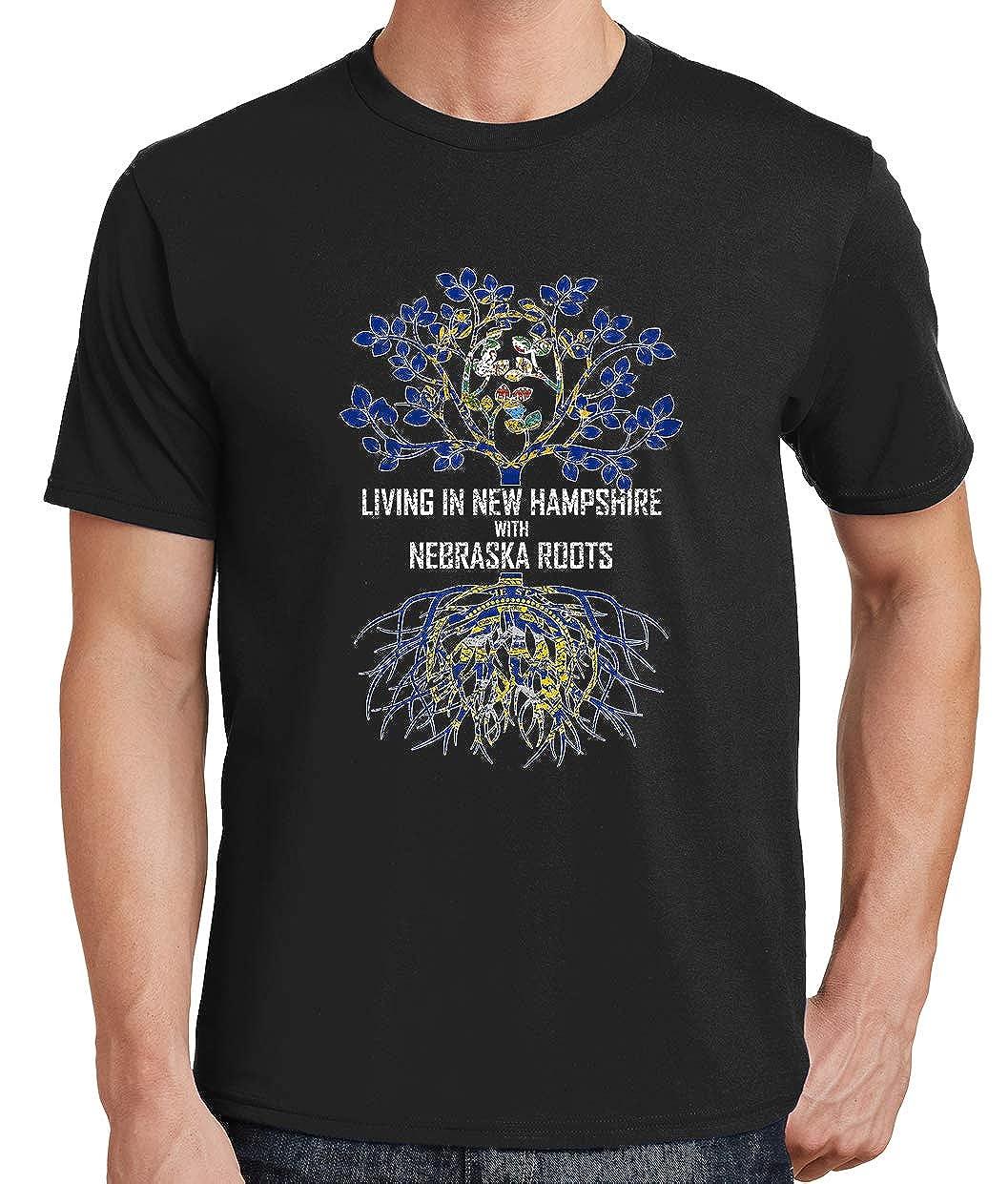 Tenacitee Mens Living in Hampshire Nebraska Roots T-Shirt