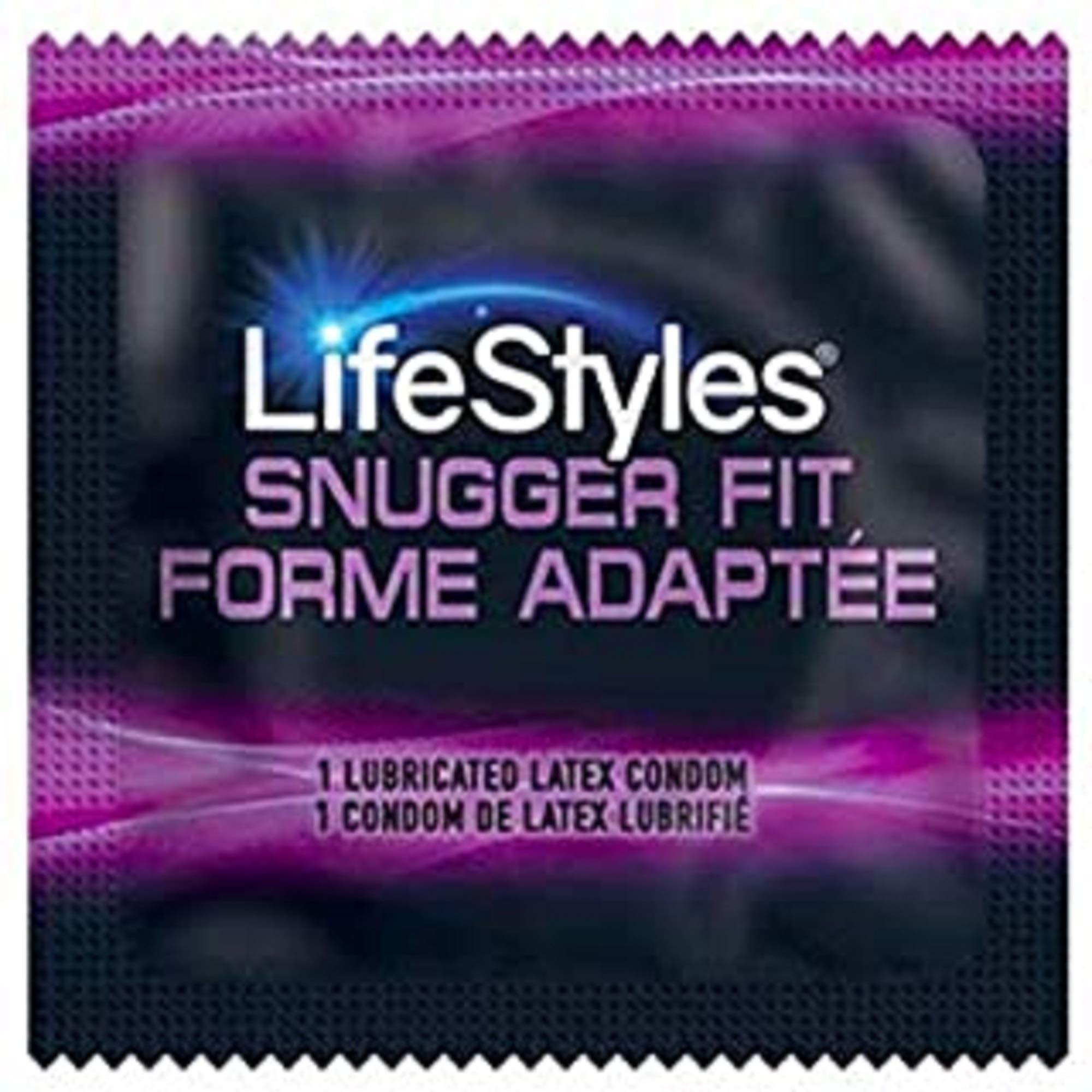 Lifestyles Snugger Fit Condoms. 25 Pieces. Latex, Lubricated