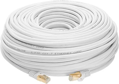 10ft Cat7 Ethernet LAN Network Cable High Speed SSTP Modem Router Black Lot