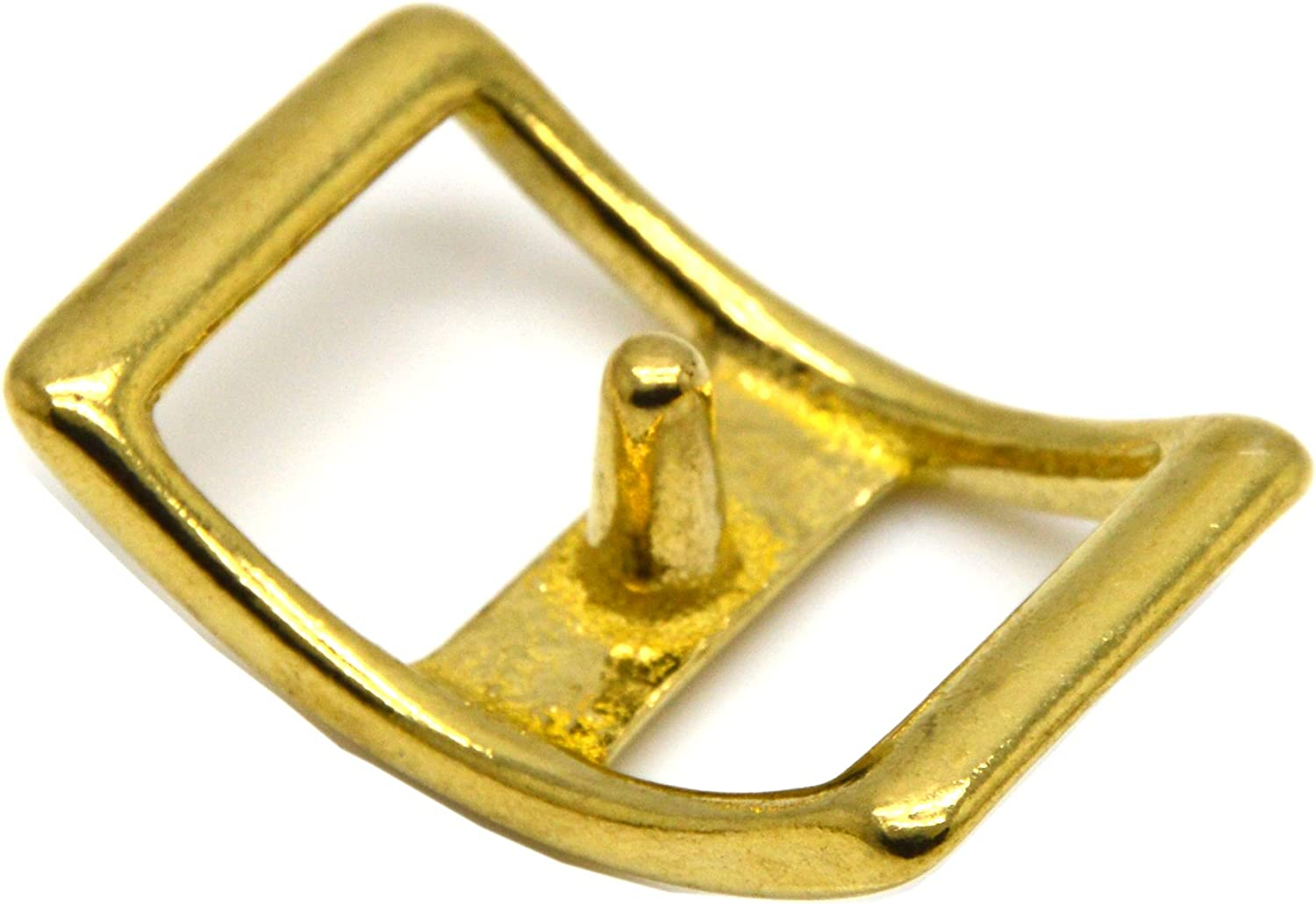 Okone 1 Inner Width Solid Brass Conway Buckle Saddle Buckle Strap Buckle for Leathercraft Pack of 4 insides 1