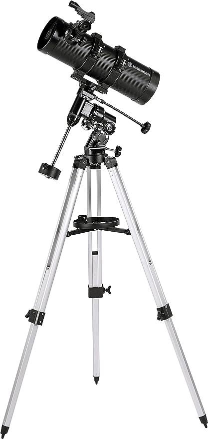 Bresser Pluto 114/500 EQ Telescopio con Adaptador de Cámara de ...